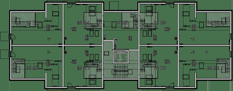 NUMERACJA ANTRESOLA - Trzecie piętro IX