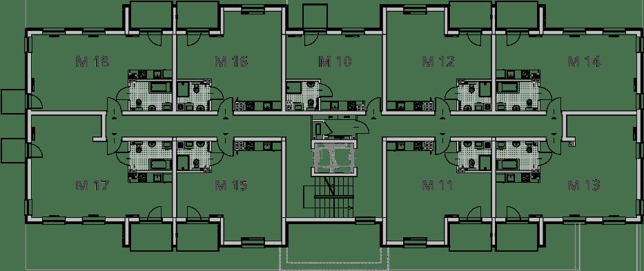 NUMERACJA I PIETRO - Pierwsze piętro IX